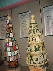 christmas card and dough tree