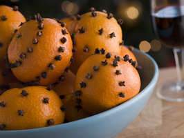 clove studded fruit