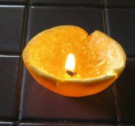 Orange Tea-light Candle