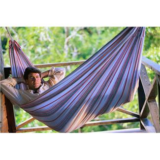 Dad relaxing in hammock