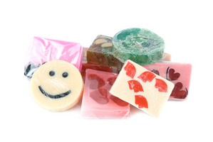 handmade colored soaps