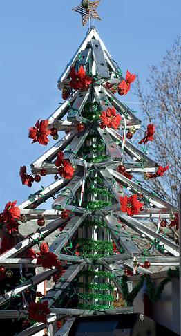recycled industrial metal christmas tree