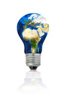 planet earth lightbulb