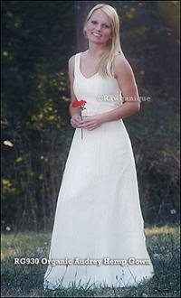 organic wedding dress