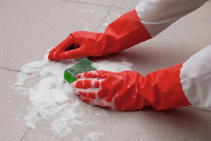 scrubbing grout