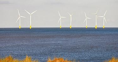 seven wind turbines