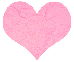 Pink Paper Heart Decorations
