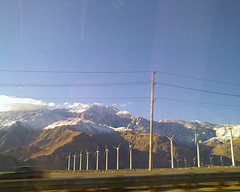 turbines,mountains