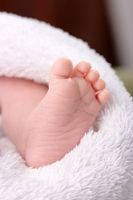 Toddlers' Footprint In Dough<br>Makes Great Keepsake