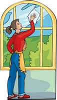 cleaning windows with vinegar