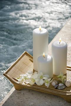 candles,seashells