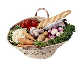 Healthy variety of foods