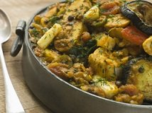 herb garnished stew