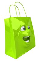 green shopping bag