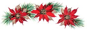 poinsettia,poinsettia garland