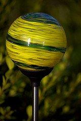 solar garden light colored