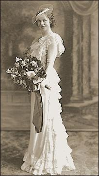 victorian bridal gown